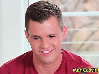 Pretty face hunk Tommy blows hard boner part5