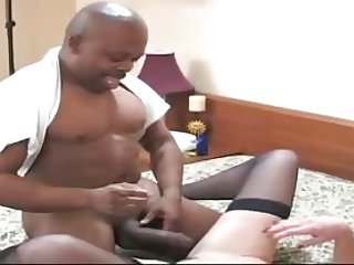 older gorgeous lady fucking a fat black cock