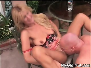 Awesome blonde babe gets her tight part5