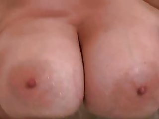 solo in the bathroom of a mature woman with big natural tits