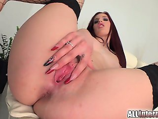 Mira is a tall chick who loves sex. She gets her pussy pounded and filled with cum