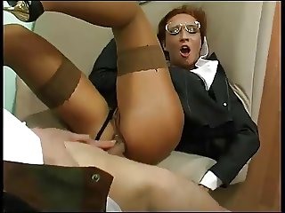 Clothed Business Mature Fucked In The Ass