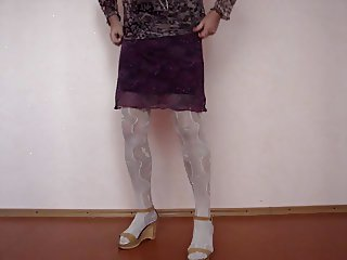 crossdresser in lingerie