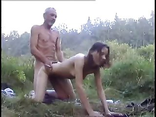 Ugly Dad and NOT his Daughter Outdoor