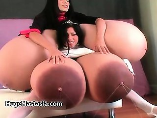 Busty babes go crazy rubbing their part1