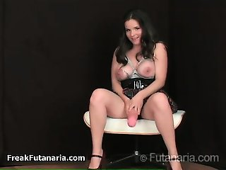Busty brunette babe gets horny rubbing part4
