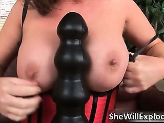 Brunette hot bitch with massive hooters part4