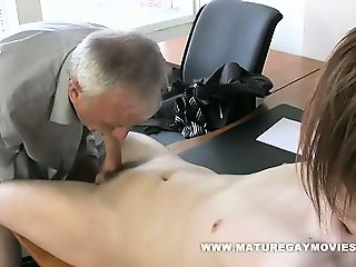 Daddy Gets His Ass Fucked By Red Haired Lad