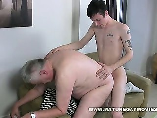 Fat Daddy Gets His Ass Fucked