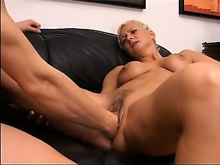 Blonde mature having hole fisted hard