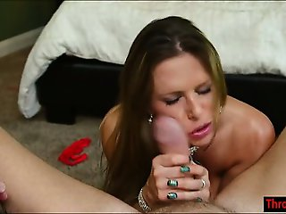 Busty Rachel Roxxx throating a hard cock