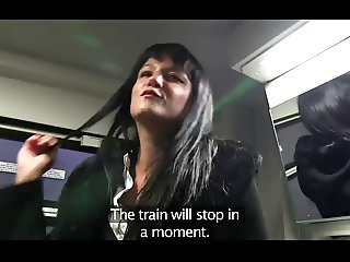Penelope fucks on the train to avoid the police