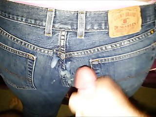 Cum on Lucky jeans
