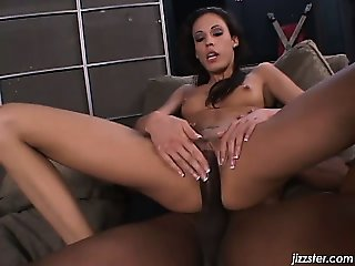 She is jerking that black cock part4