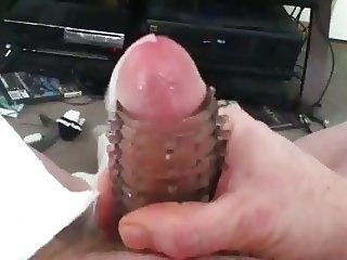 Jerking off with toy until I cum while moaning with delight