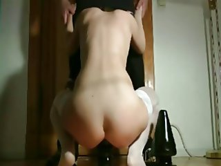Amateur - Huge Toys in Her Ass
