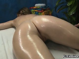 Sexy oil massage for this cute petite part1