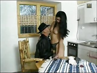 Oldman Sharing Hot Maid With OldFriend
