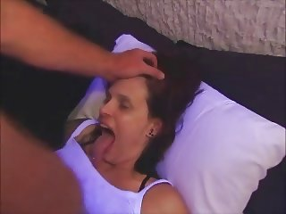 Tongue goddess throat fucked and facialized
