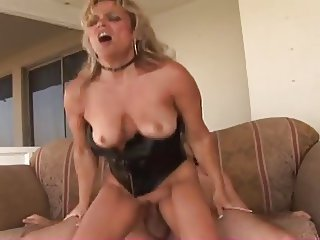 Hot Mature Blonde Cougar Couch Fuck