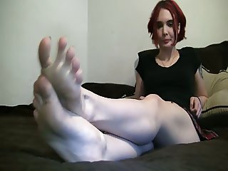 Candid Interview of her feet 1