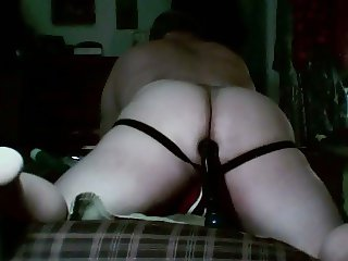 jockstrapped bear working toy with his big ass