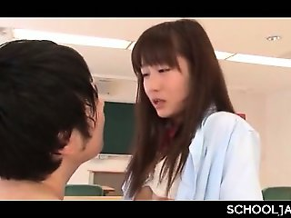 Little jap school babe having sex with her professor after classes