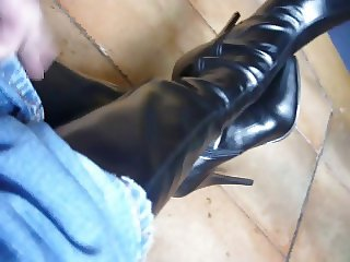 6 inch high heeled boots