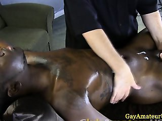 Straight guys hand and bj by masseur