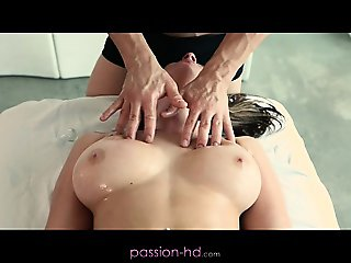 Brooke's tits are more than a handful for this masseuse
