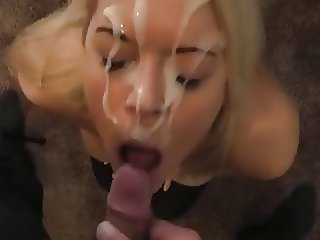 MRY -  busty girl sucks dick for big cum facial