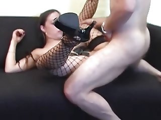 Chubby MILF sucking and fucking