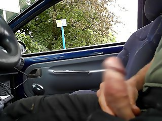 flashing cock in car