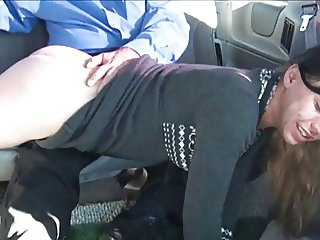spanked in a car