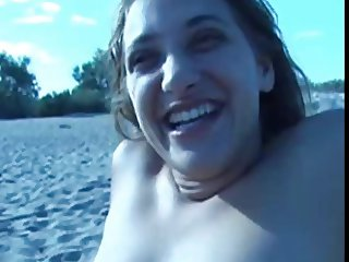 Nude Beach - Hot Young Party Girl Gangbang
