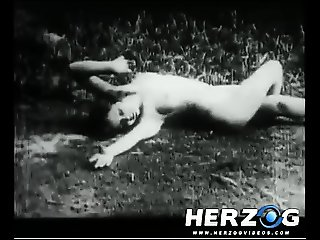 Old movie naked beauties preyed upon in the woods
