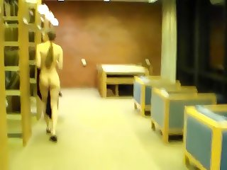 Filmed Naked in Library