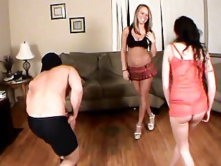 Ballbusting - Teen School Girls Kick & Knee Balls