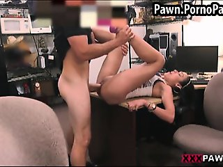 Hottie fucked in a pawn shop