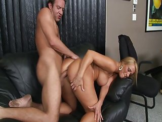 Blonde MILF smoking pole