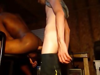Black Jock Long Dicked Bare By White Top