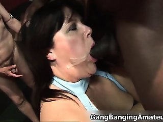 Nasty babe is face cummed when part2