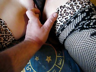 Touching tits and fingerring pussy