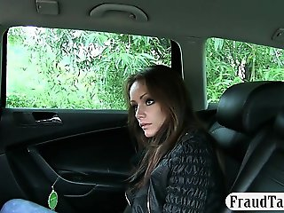 Real amateur passenger slut nailed in the backseat