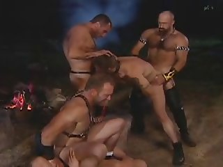 Bear Muscle Orgy in the Forest