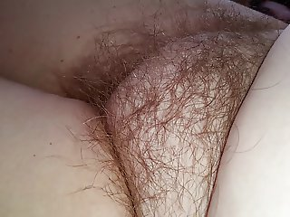 my wifes real natural hairy pussy & soft belly