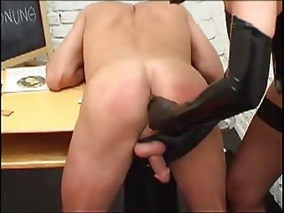 Domme puts him in his place