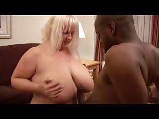 Plumper with giant tits and guy