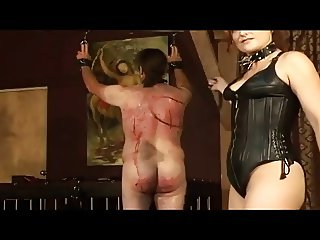 slave getting a good beating