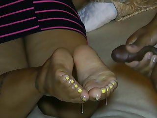 Ebony Double Footjob